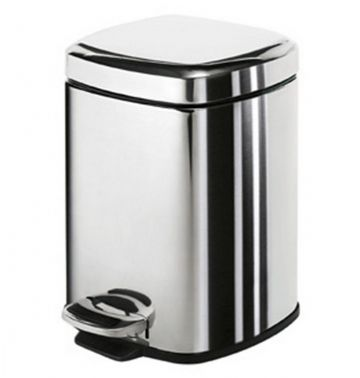 Gedy Square Pedal Bin Soft Close 3 Litre Polished 2209-13